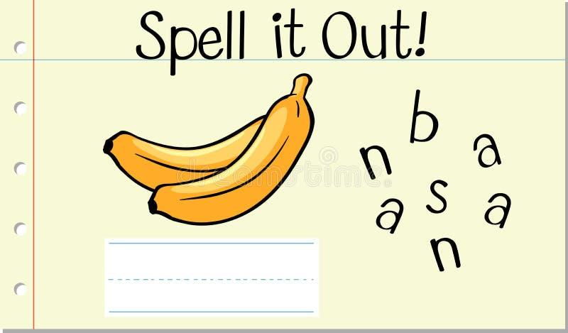 Engelsk ordbanan för pass vektor illustrationer