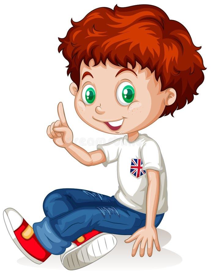 Engelsk pojke med rött hår royaltyfri illustrationer
