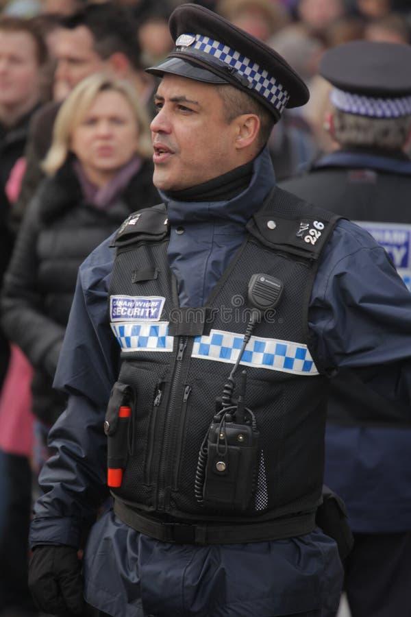 Engelsk polis arkivbild