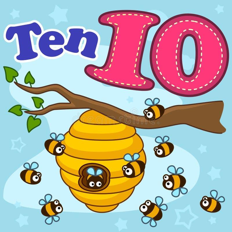 Engelsk siffra tio vektor illustrationer