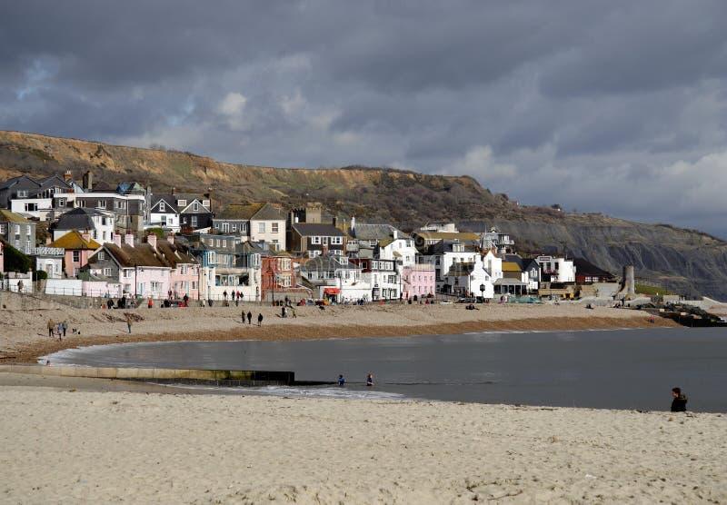 engelsk sjösidatown royaltyfri fotografi