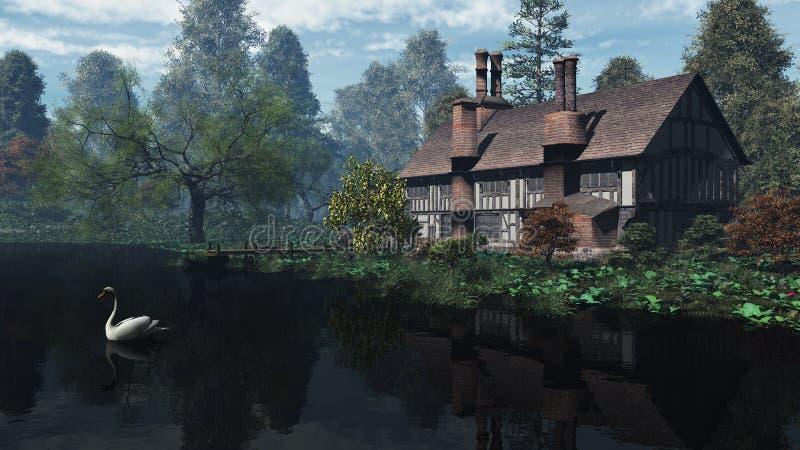 engelsk traditionell hussäteriflodstrand vektor illustrationer
