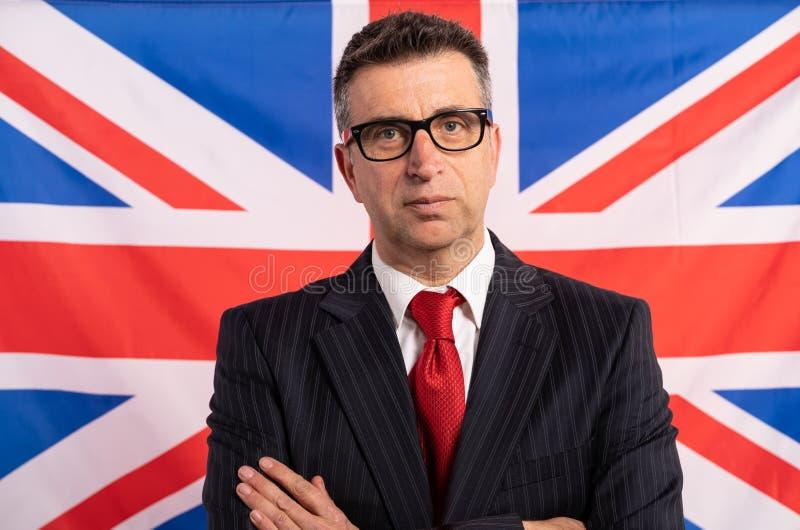 Engelsk UK-affärsman med dräkten royaltyfri foto