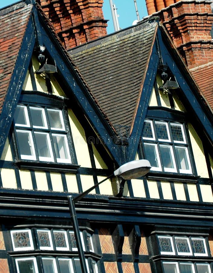 engelska hus royaltyfri bild