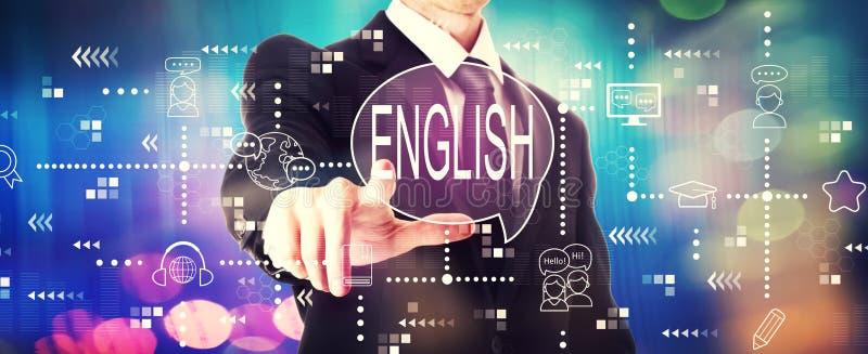 Engelska med en affärsman arkivbild