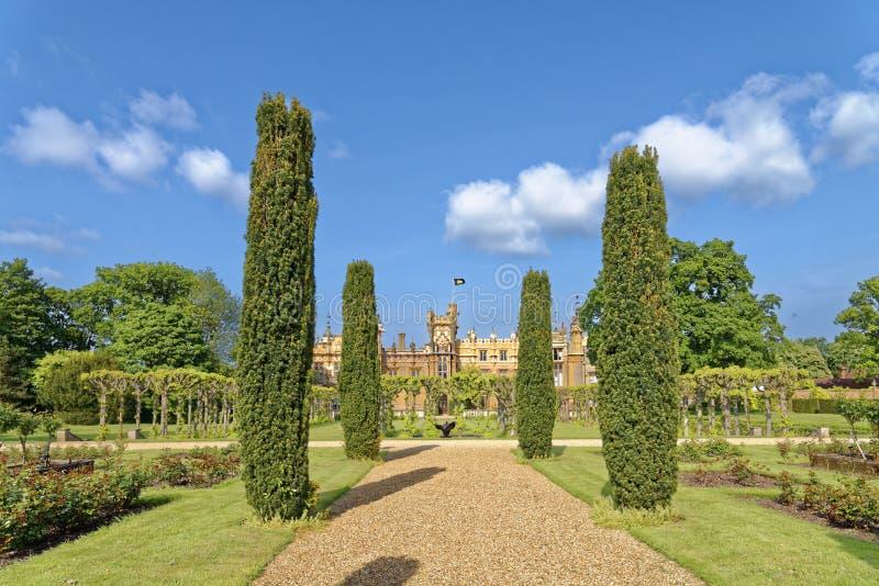 Engelskaträdgård, knebworth, England arkivfoto