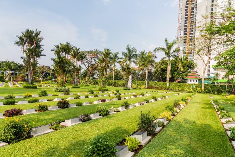 Engelskt fält av heder Menteng Pulo i Jakarta, Java Island, in royaltyfri fotografi