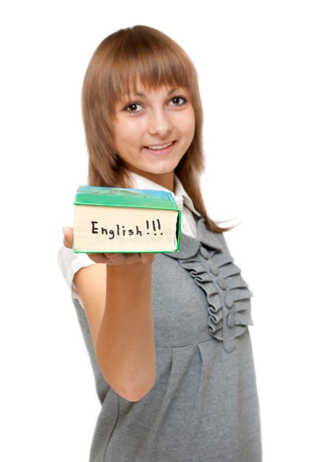 engelskt flickabarn för ordbok arkivbilder