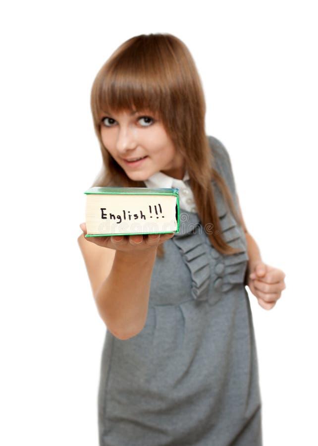 engelskt flickabarn för ordbok royaltyfria bilder