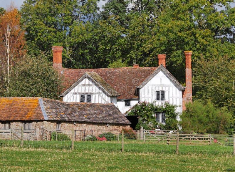 engelskt medeltida lantbrukarhemsäteri arkivbilder