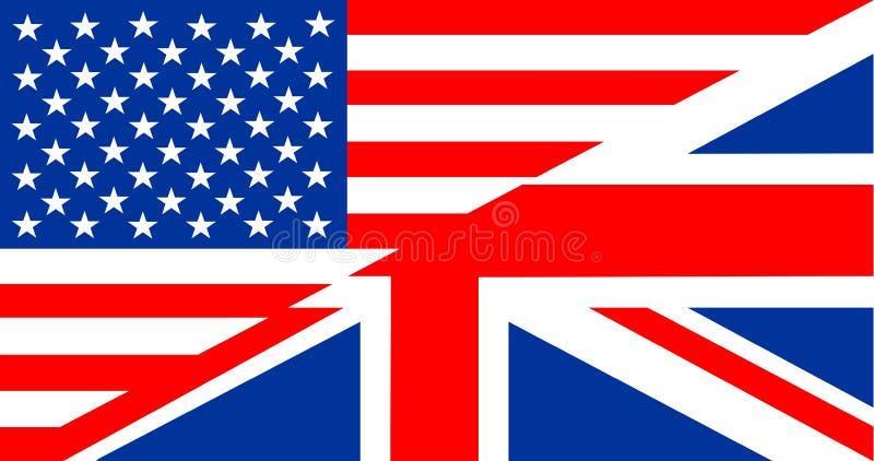 Engelstalige vlag vector illustratie