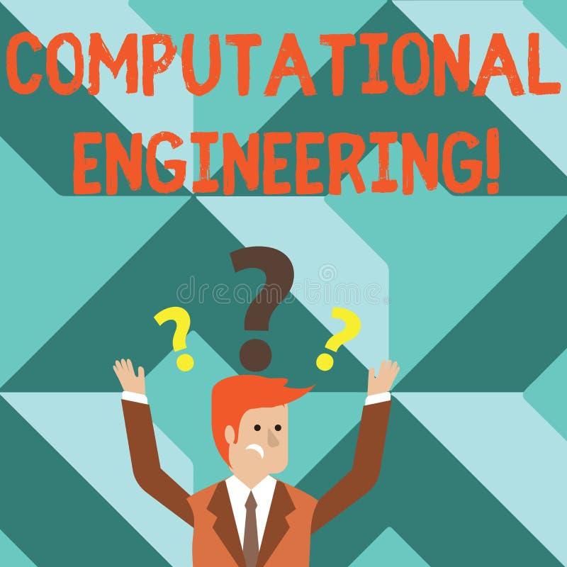 Engenharia computacional do texto da escrita da palavra Conceito do negócio para modelos computacionais do desenvolvimento e da a ilustração do vetor