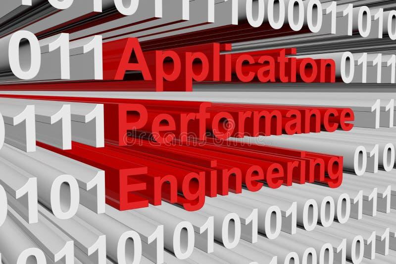 Engenharia do desempenho da aplicação ilustração royalty free