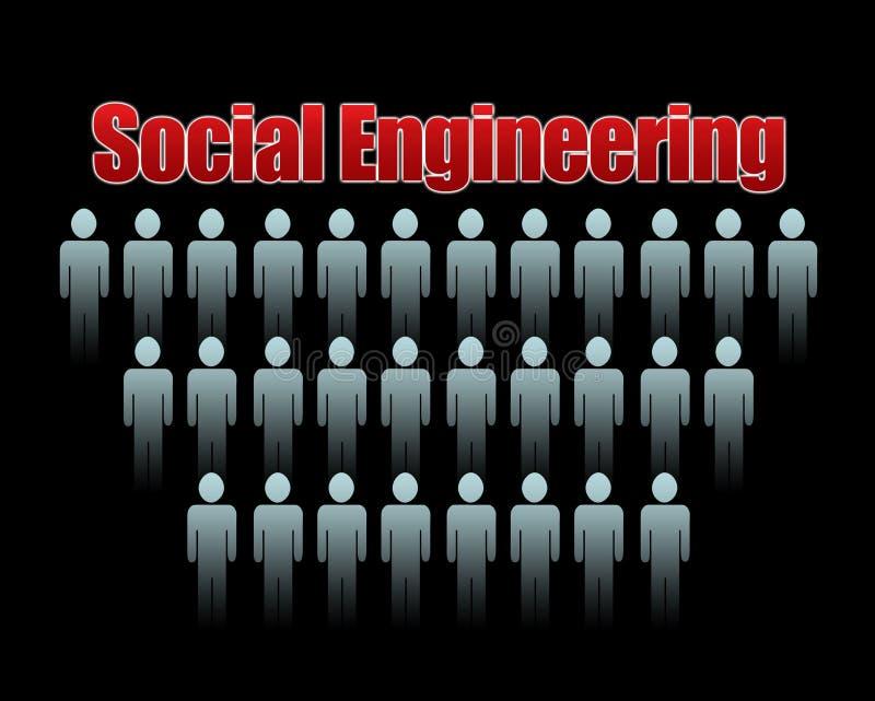 Engenharia social ilustração do vetor