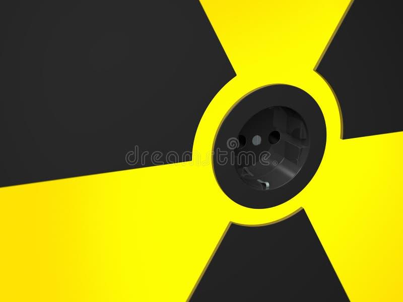 engery πυρηνικό διανυσματική απεικόνιση