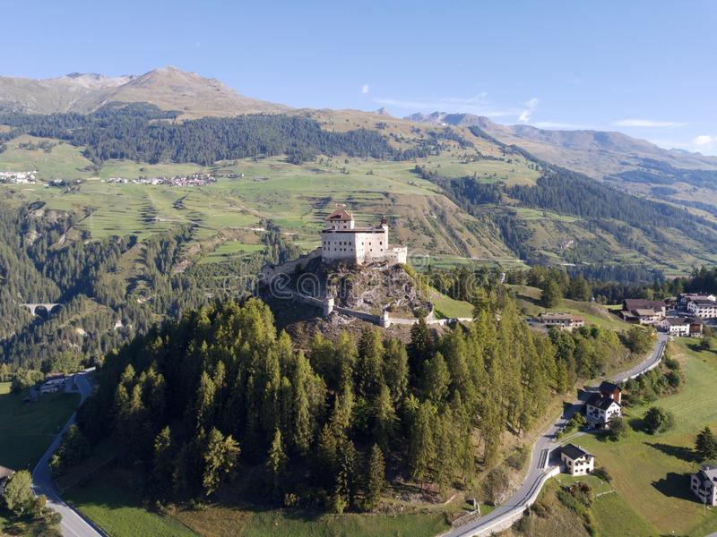 Visit Engiadina - Scuol and other host cities. Engiadina is a special part of Switzerland. Fall in love with this pictures stock photo