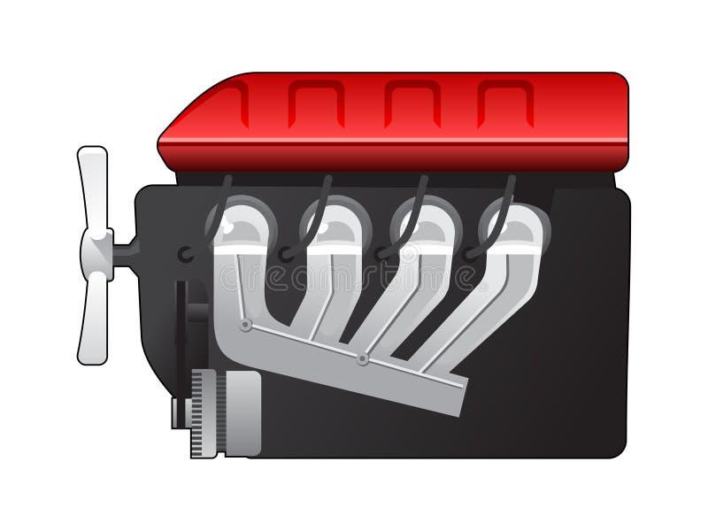 Engine à combustion interne illustration de vecteur