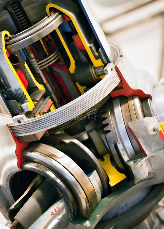 Engine à l'intérieur de plan rapproché photos stock