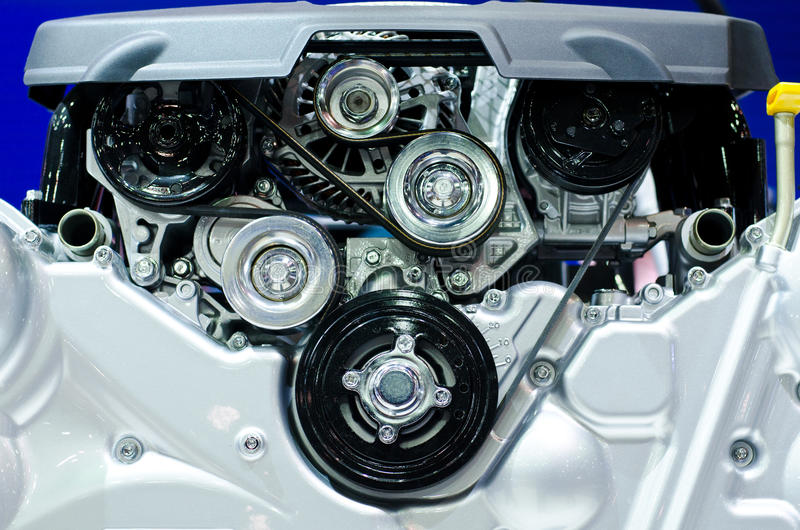 Engine. The engine of the car stock photography