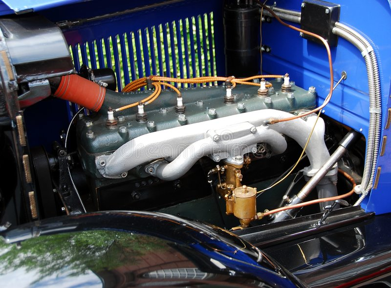 Download Engine in antique car stock image. Image of machinery - 5497035