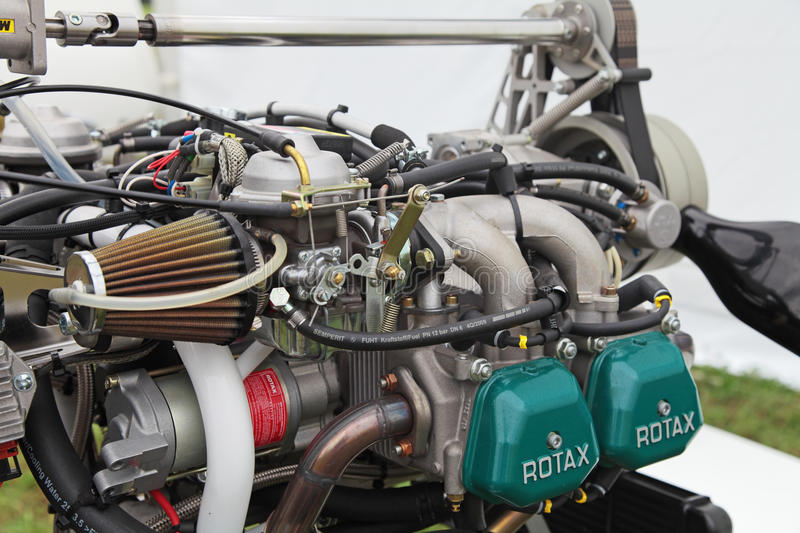 The engine of the autogyro stock photography
