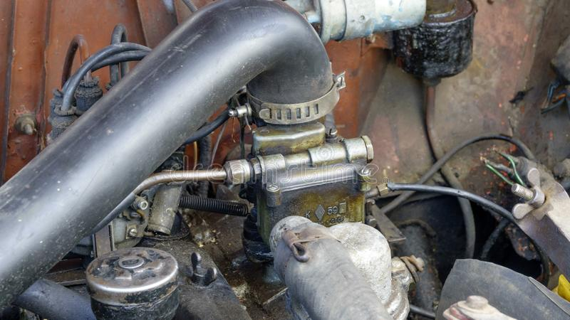 Engine and auxiliary equipment stock image