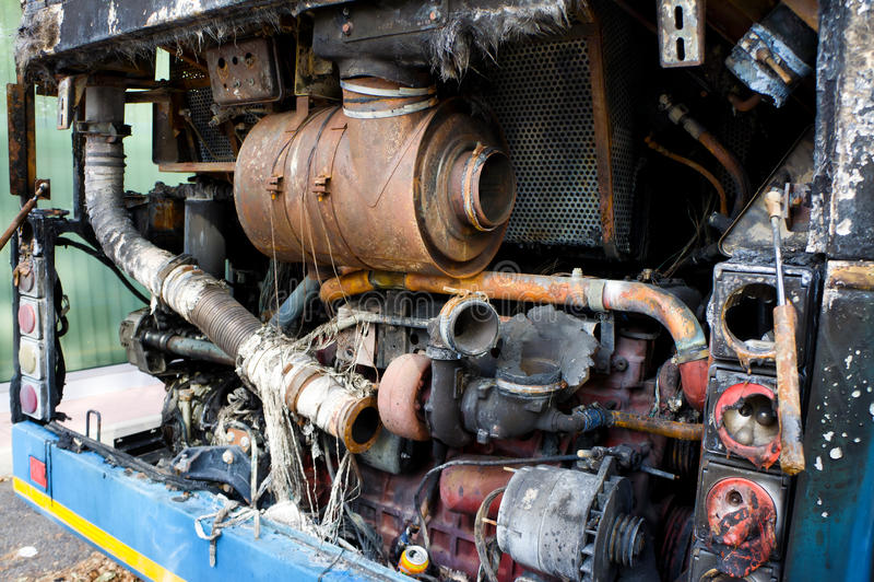Engine brûlée photo stock