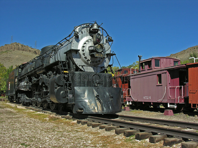 Engine and Caboose royalty free stock photo