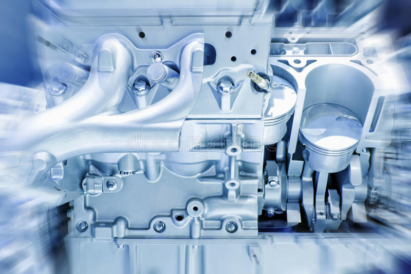 Engine. Car engine part - Close up image of an internal combustion engine stock image