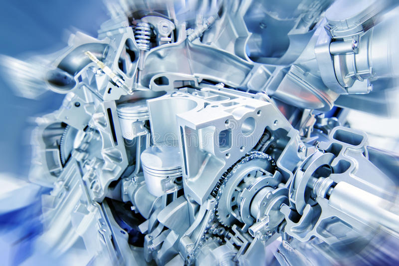 Engine. Car engine part - Close up image of an internal combustion engine royalty free stock photography