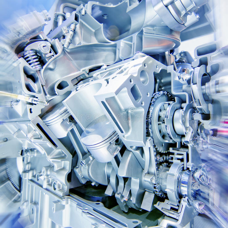 Engine. Car engine part - Close up image of an internal combustion engine royalty free stock image