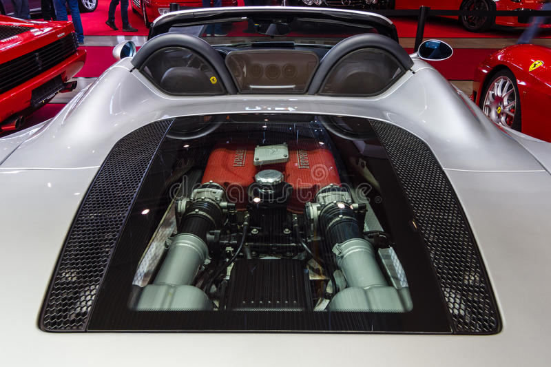 Engine Compartment Of The Ferrari 360 Spider Editorial Image Image Of Exterior Rear 88731050