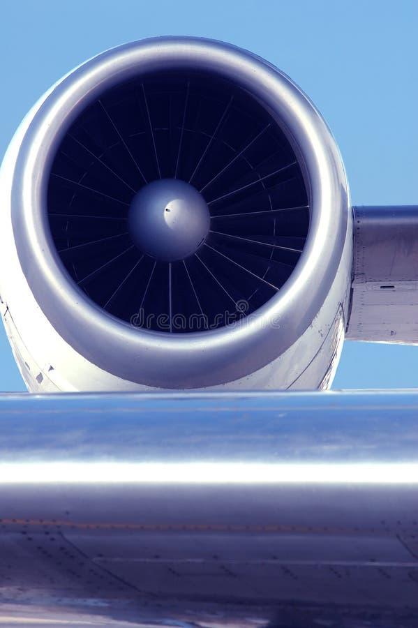 Engine d'avion d'avion à réaction image stock