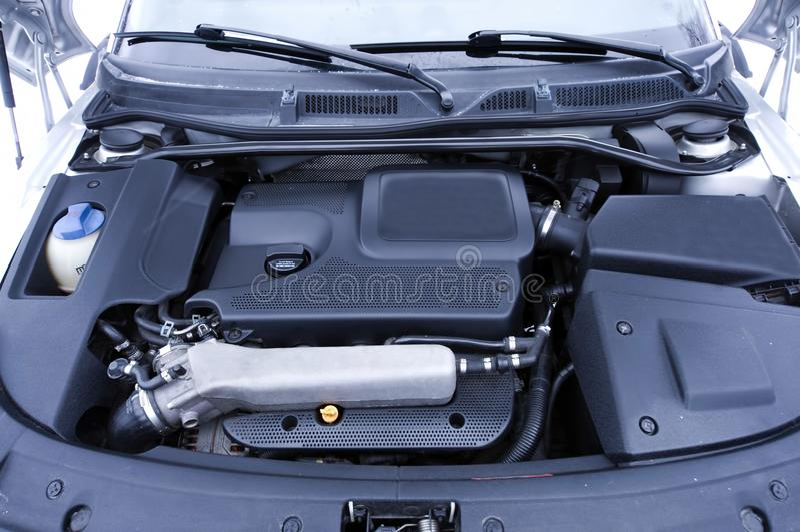 Engine d'un véhicule images libres de droits