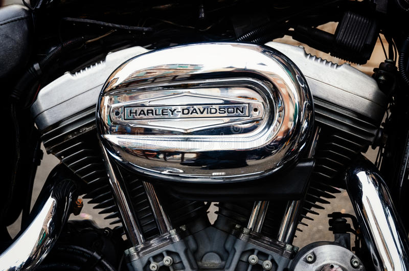 Engine de Harley Davidson photo libre de droits