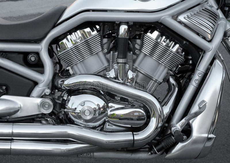 Engine de moto photographie stock libre de droits