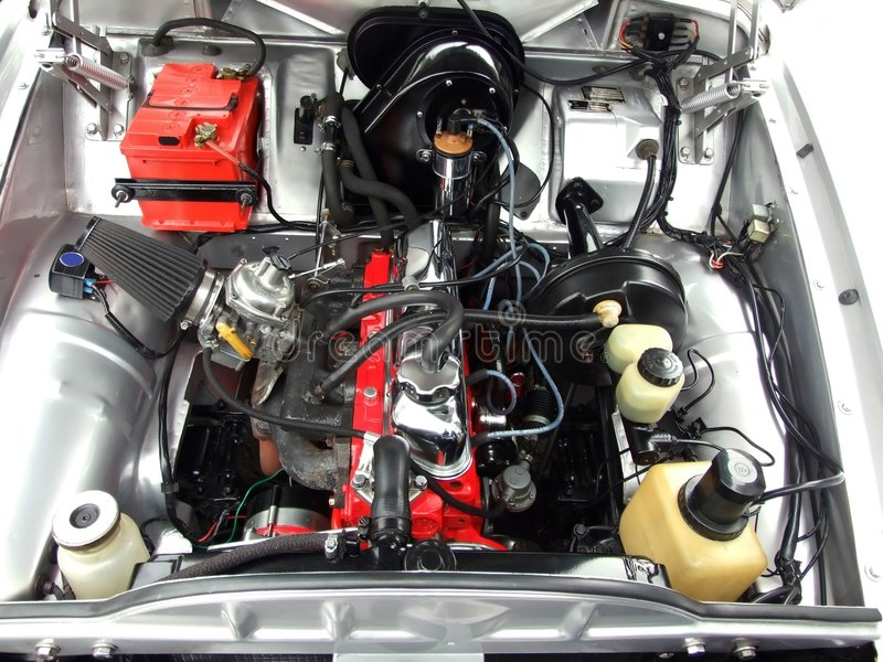 Engine de véhicule d'Oldtimer image stock