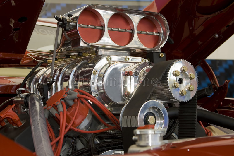 Engine de véhicule de muscle image stock