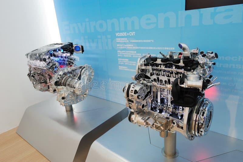 Engine de véhicule de Nissans photo stock