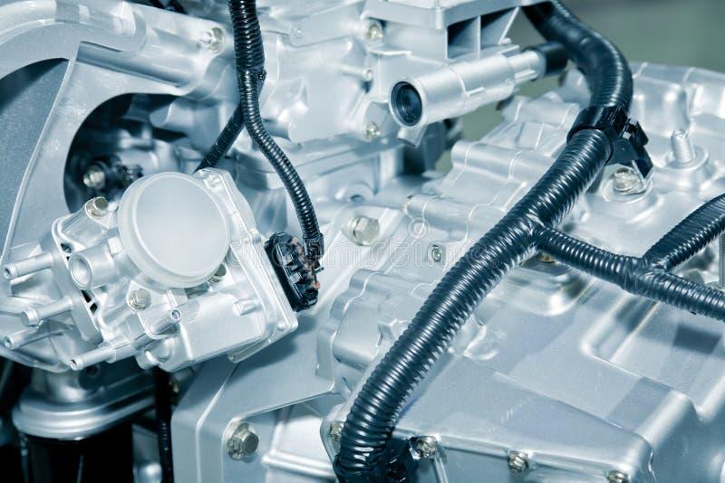 Engine detail. Of modern car stock photo