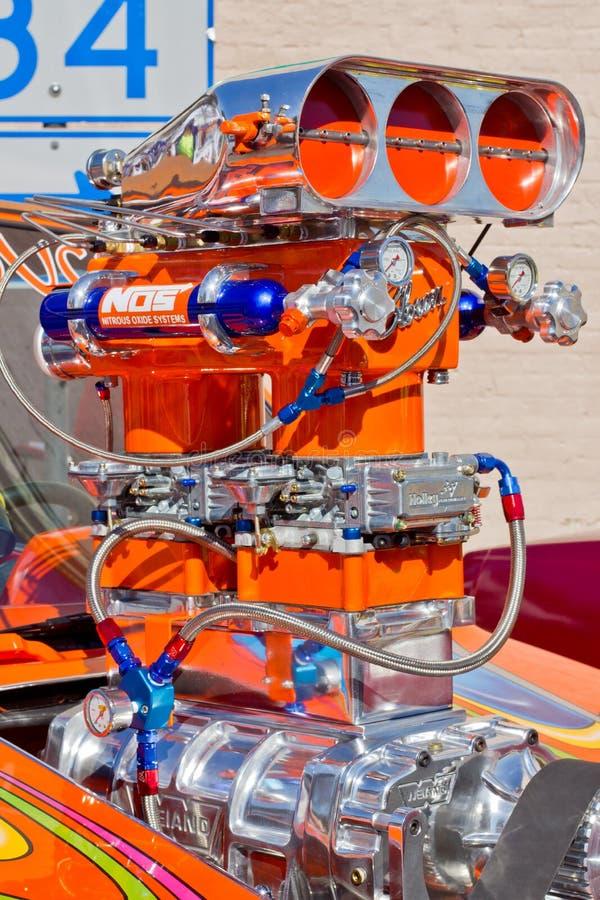 Engine enflée de Dragster images libres de droits