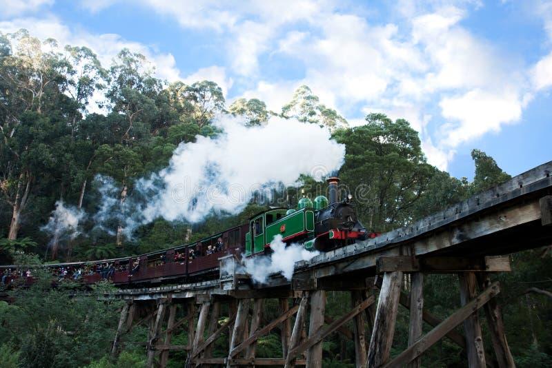 Engine et chariots de soufflage de train de vapeur de Billy images libres de droits