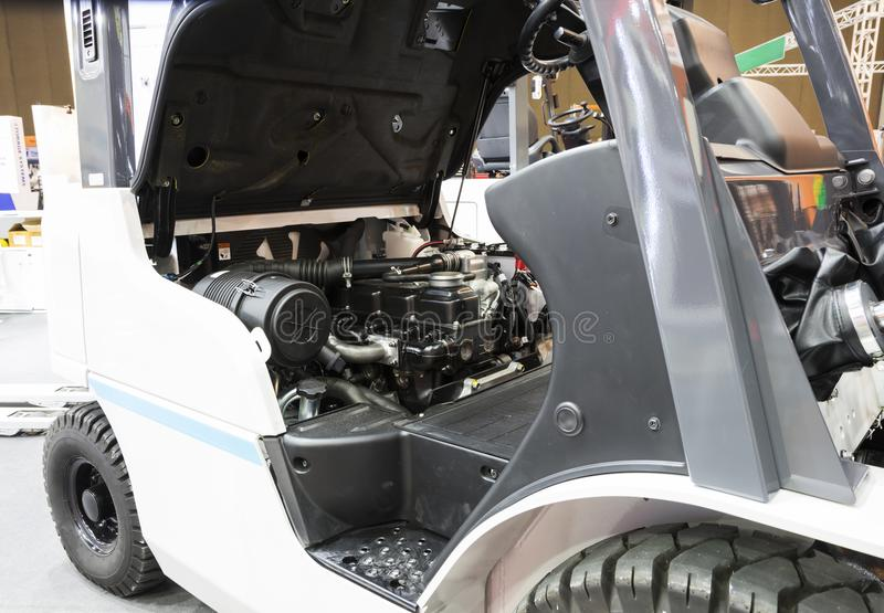 Engine of forklift truck , royalty free stock image