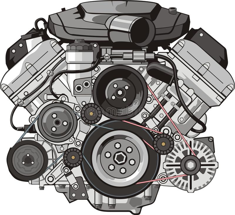 Free Engine Front Royalty Free Stock Images - 18463489