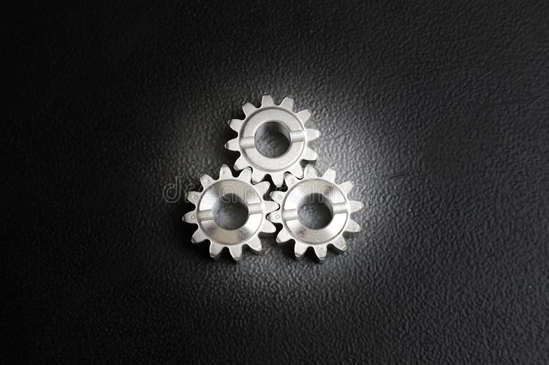 Engine gear wheels royalty free stock photo