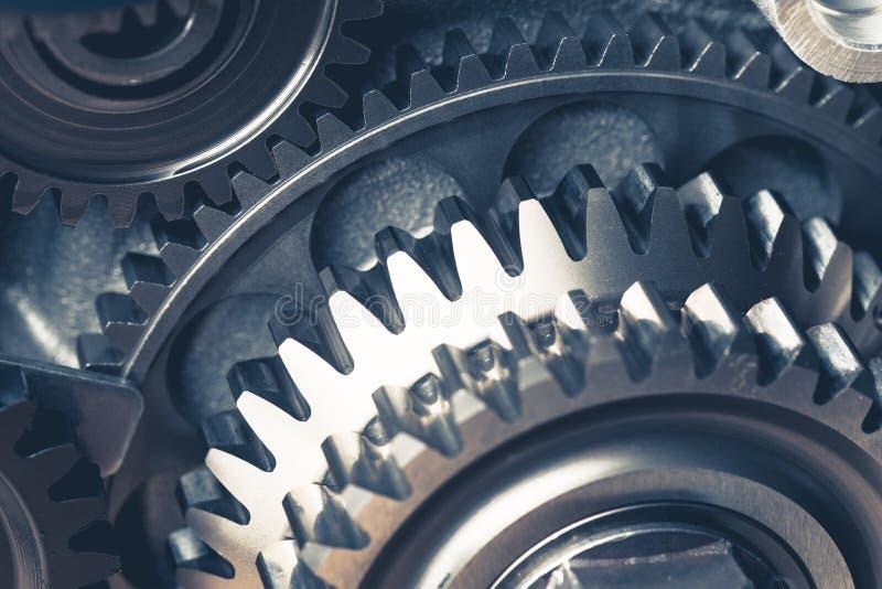 Engine gear wheels. Engine gears wheels, closeup view royalty free stock image