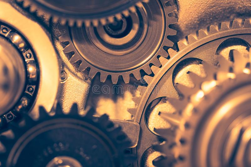 Engine gear wheels royalty free stock images