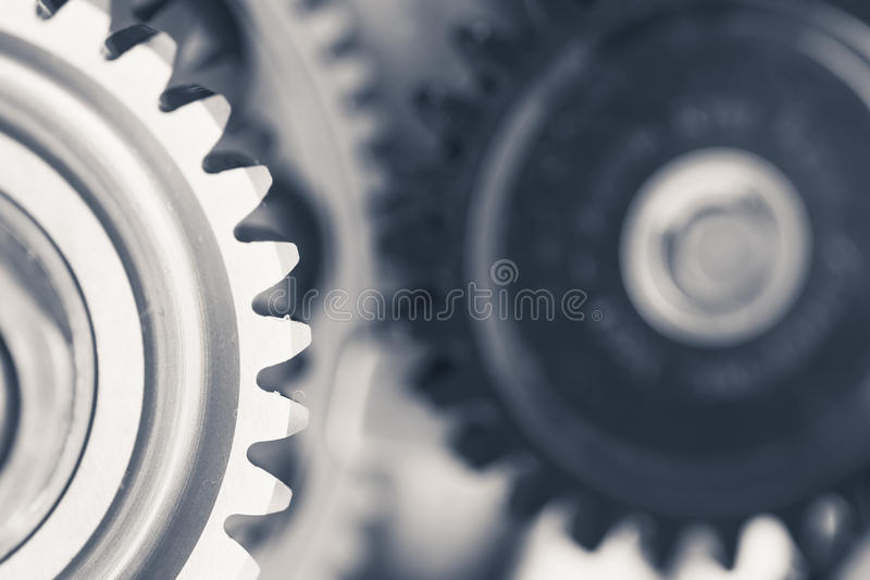 Engine gear wheels royalty free stock image
