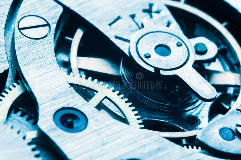 Engine gear wheels, industrial background stock photos