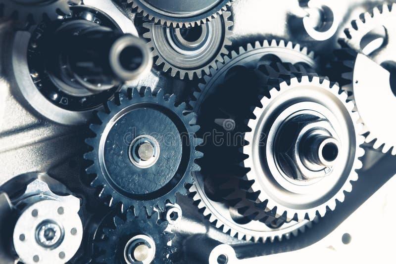 Engine gears wheels. Closeup view royalty free stock photos